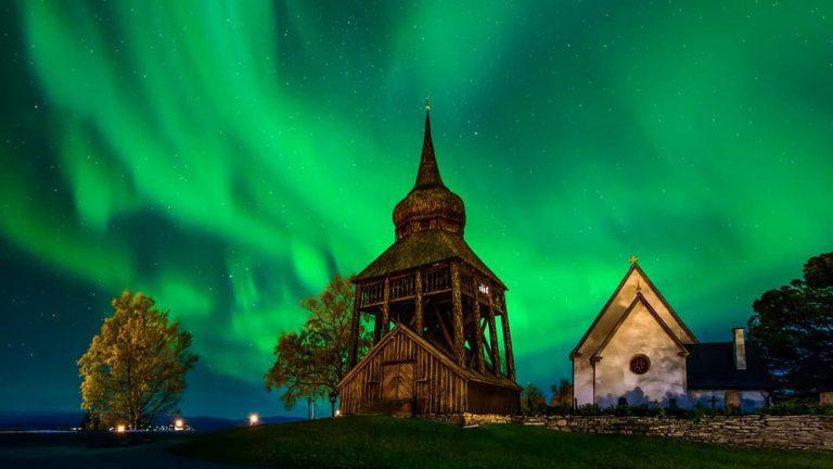 Norrsken Frösö kyrka Jämtland