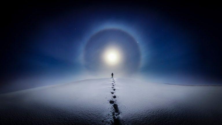 Fotokonst måne fenomen