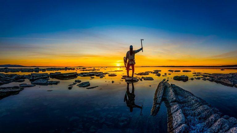 Viking solnedgång