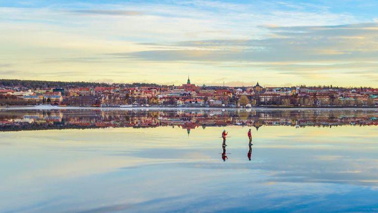 Östersund vinter skridskoåkning