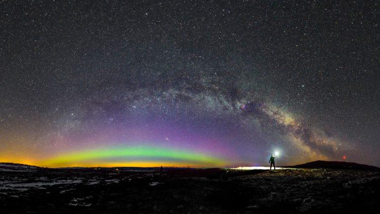 Norrsken Vintergatan astrofoto