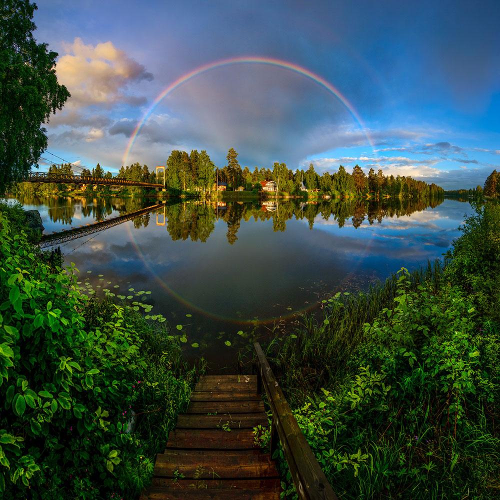 Regnbåge landskap natur
