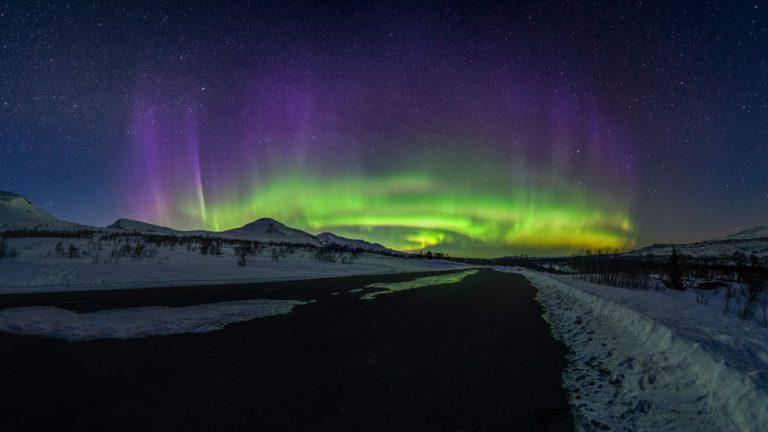 Norrsken Jämtland Aurora nordlys