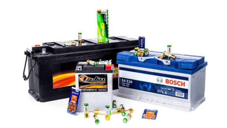Produktfoto batteri reklam