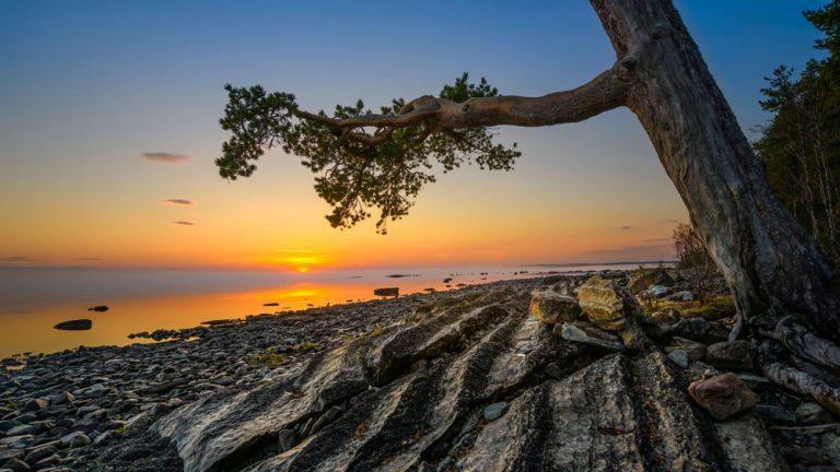 Jämtland solnedgång natur landskap