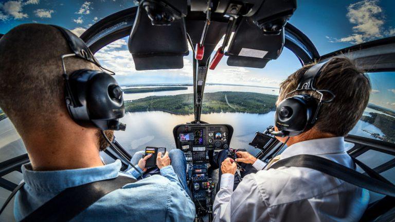 Helikopter flyg företag porträtt