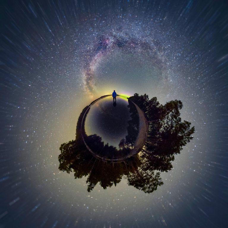 Vintergatan astrofoto konst