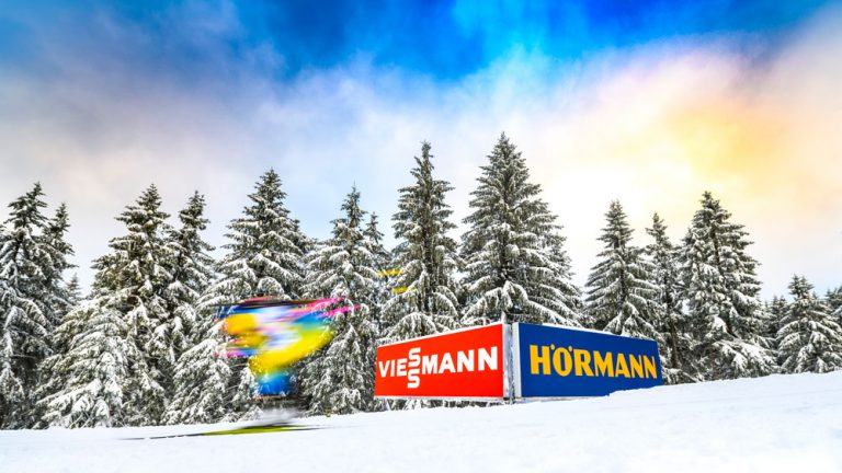 Vintersport reklamfoto