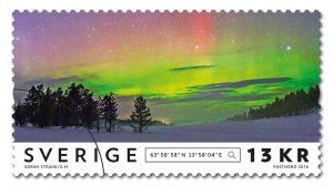 Frimärke Norrsken Jämtland
